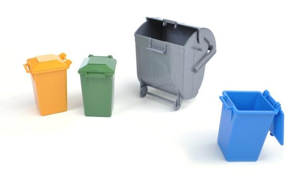 #02607 1/16 Garbage Can 4-pc. Set