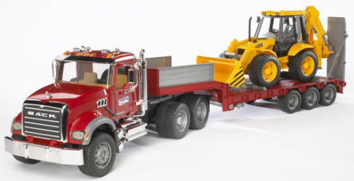#02813 1/16 Mack Granite Low Loader with JCB Backhoe