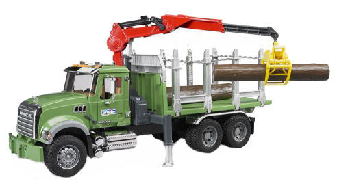 #02824 1/16 Mack Granite Timber Truck with Crane