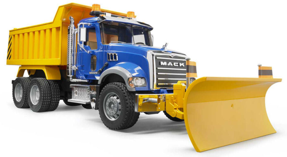 #02825 1/16 Mack Granite Dump Truck with Snow Plow Blade