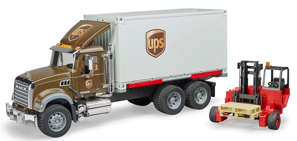 #02828 1/16 UPS Logistics Mack Granite Truck with Forklift