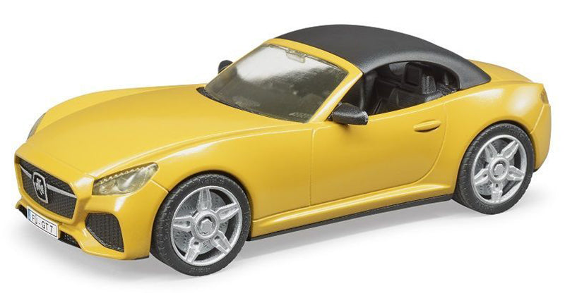 #03480 1/16 Yellow Bruder Roadster