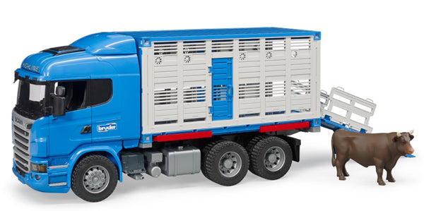 #03549 1/16 Scania R-Series Cattle Transport Truck with Cow