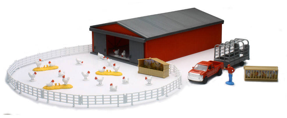 #04143B 1/43 Chicken Farming Set with Shed