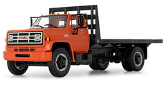 #10-4218 1/34 Orange 1970s GMC 6500 Flatbed Truck