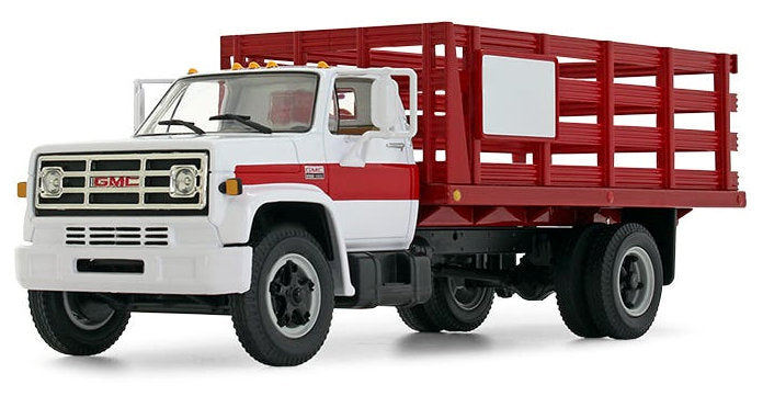 #10-4220 1/34 White & Red 1970s GMC 6500 Stake Truck
