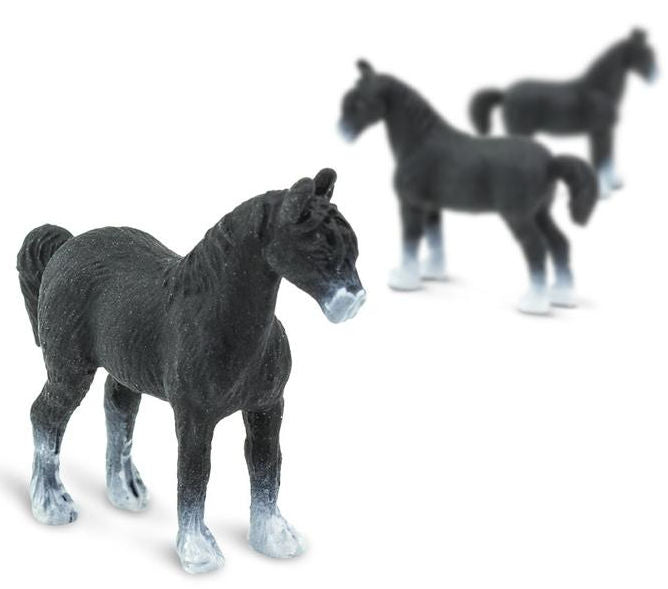 #100171 1/87 Black Shire Horse Set