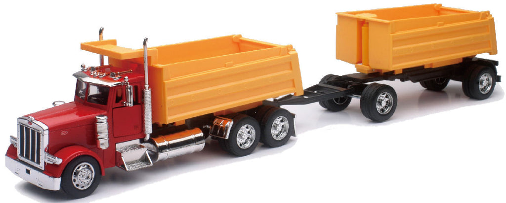 #10573 1/32 Peterbilt 379 Dump Truck with Pup Trailer