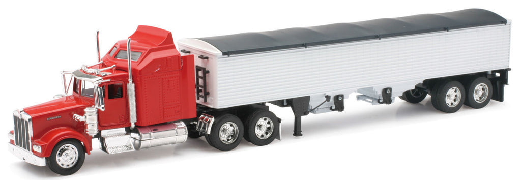 #10773 1/32 Red Kenworth W900 with White Grain Trailer