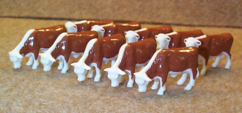 #12660 1/64 Hereford Steers, 10 pc.