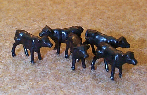 #12661A 1/64 Black Angus Calves, 5 pc.
