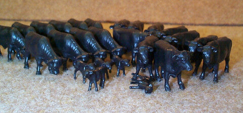 #12661B 1/64 Black Angus Steers & Calves, 25 pc.