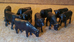 #12661 1/64 Black Angus Steers, 10 pc.