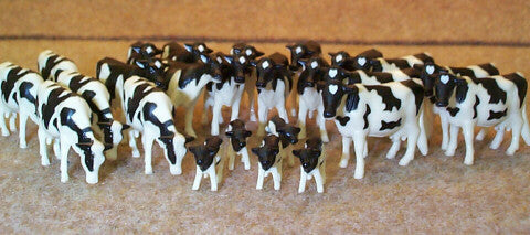#12662B 1/64 Holstein Cows & Calves, 25 pc.