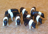#12663 1/64 Black & White Pigs (Hampshire), 10 pc.