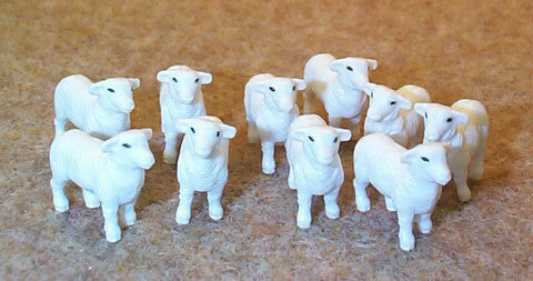 #12743A 1/64 Columbia Sheep, 10 pc.