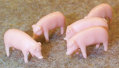 #12820 1/64 Yorkshire Pigs, 10 pc.