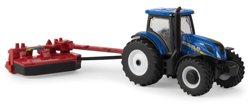#13896 1/64 New Holland T6.175 Tractor with H7230 Discbine Disc Mower Conditioner
