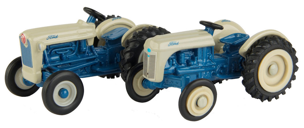 #13942 1/64 Ford 8N & Jubilee Tractor Set, Blue & Gray
