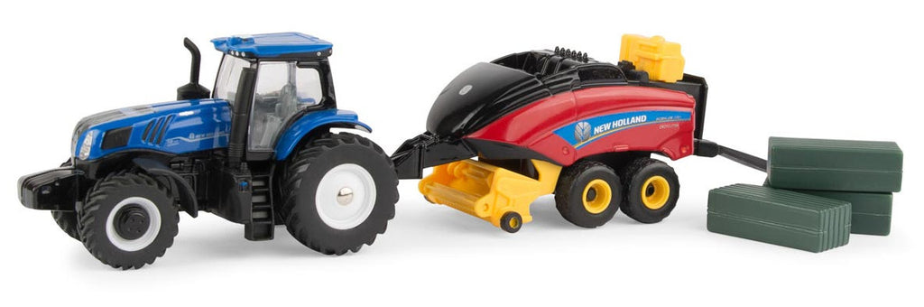 #13948 1/64 New Holland T8.380 Tractor with 330 Big Baler Set