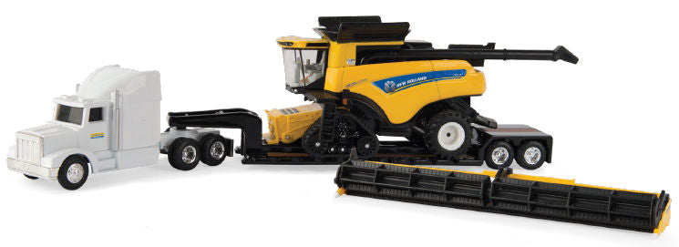 #13949 1/64 New Holland CR9.90 Combine Hauling Set