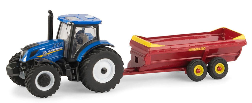 #13951 1/64 New Holland T6.165 Tractor with V-Tank Spreader