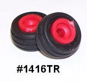 #1416TR 1/64 Implement Flotation Tires with Red Rims