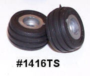 #1416TS 1/64 Implement Flotation Tires with Silver Rims