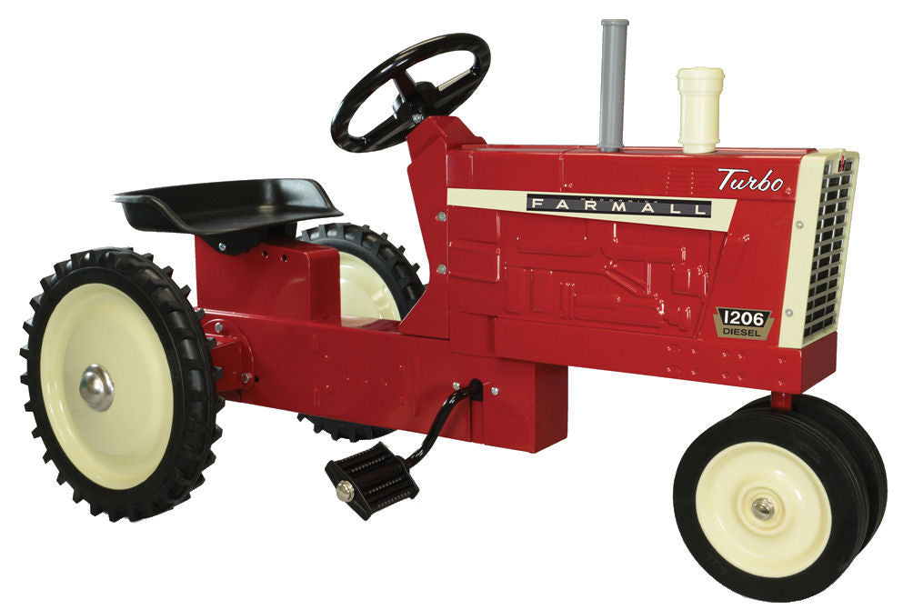 #14898 Red Farmall 1206 Turbo Diesel Pedal Tractor