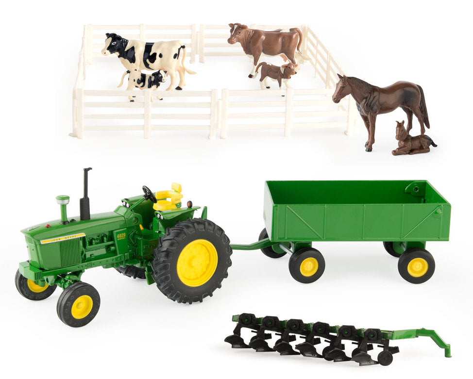 #15474 1/32 John Deere Farm Toy Playset. 17-piece