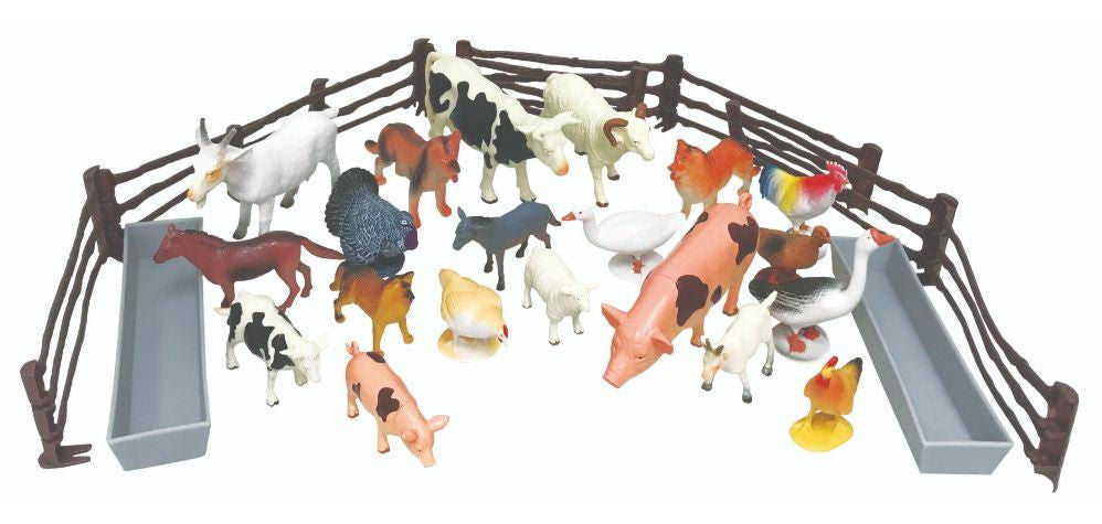 #2003NG Bucket of Farm Animals, 30 piece