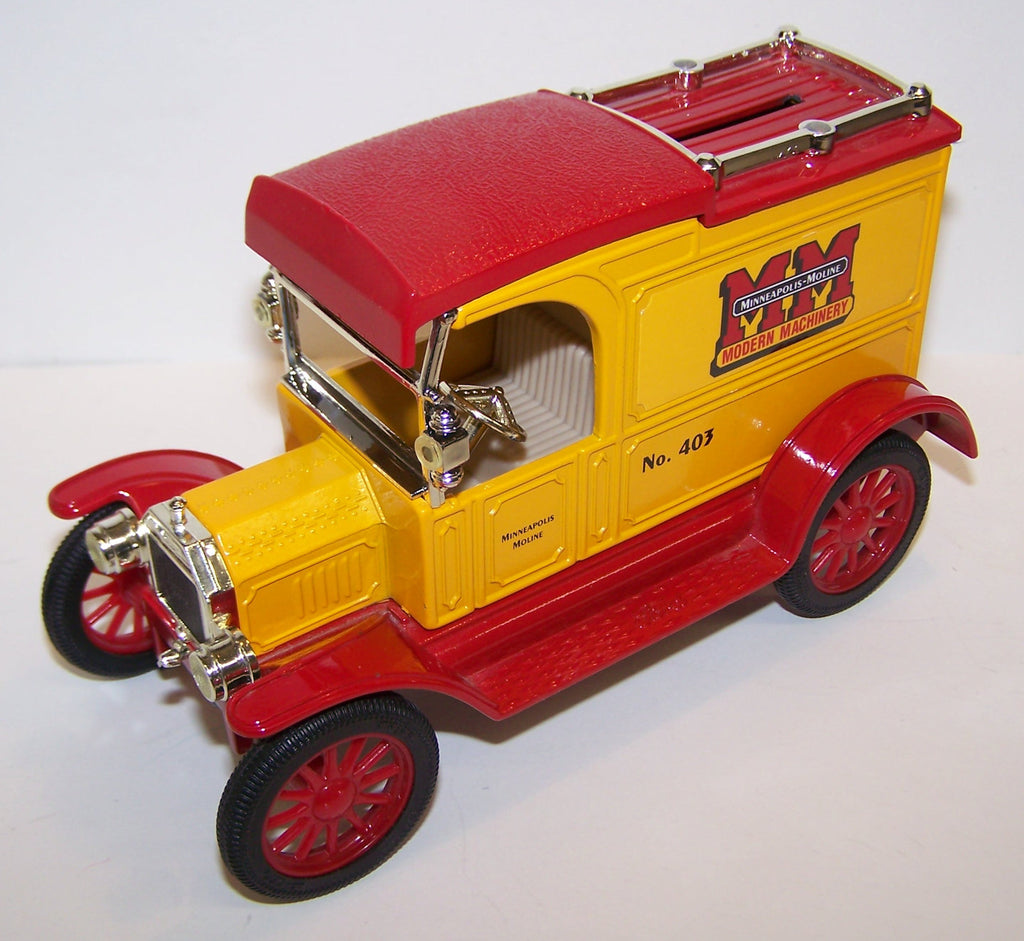 #2224 1/25 Minneapolis-Moline #403 1913 Model T Delivery Van Coin Bank