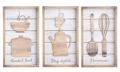 #30068710 Wooden Kitchen Sign Set - 3 pc.