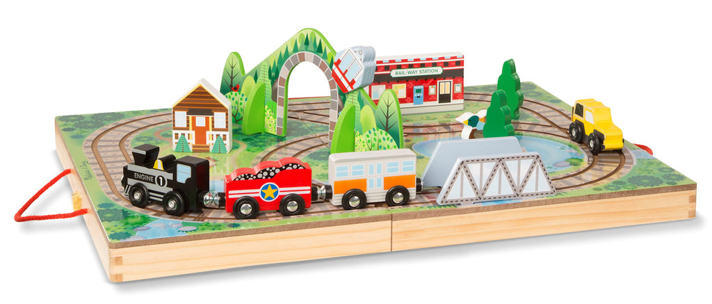 #30140 Wooden Take-Along Railroad Set