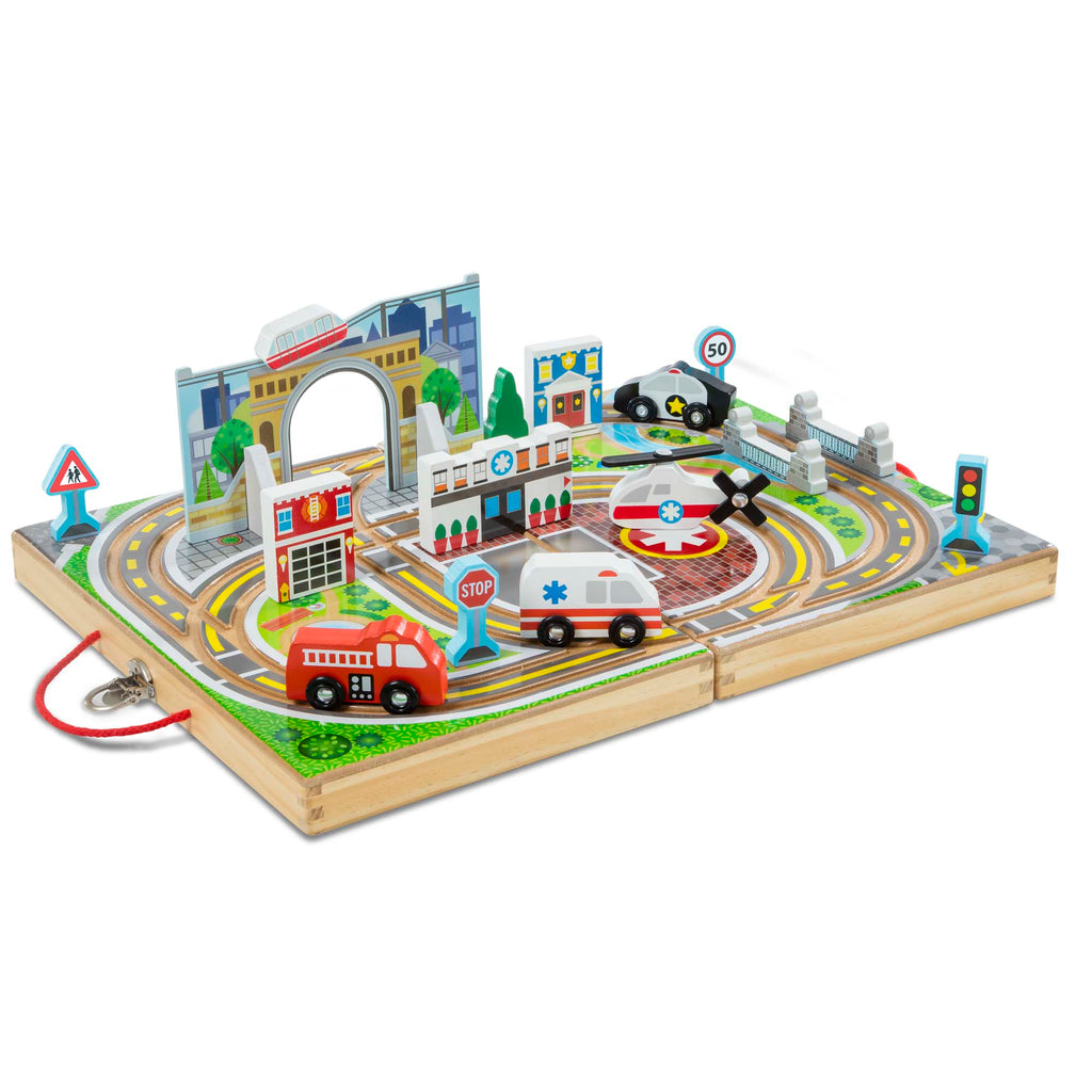 #30141 Wooden Take-Along Town Set