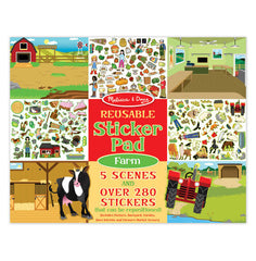 #30501 Farm Scenes Reusable Sticker Pad