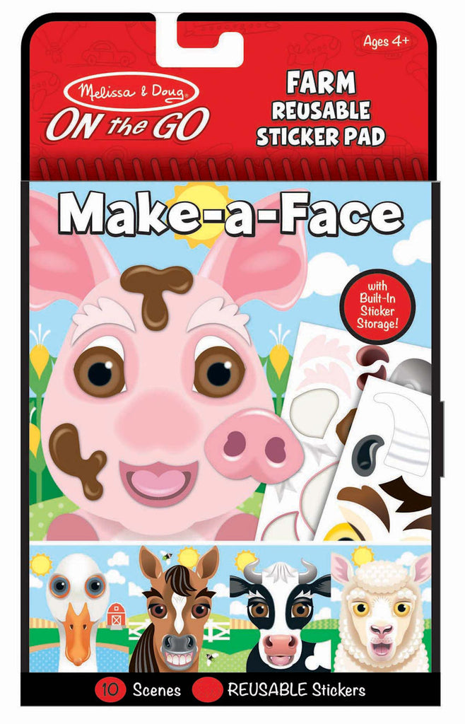 #30511 Make-a-Face Farm Reuseable Sticker Pad