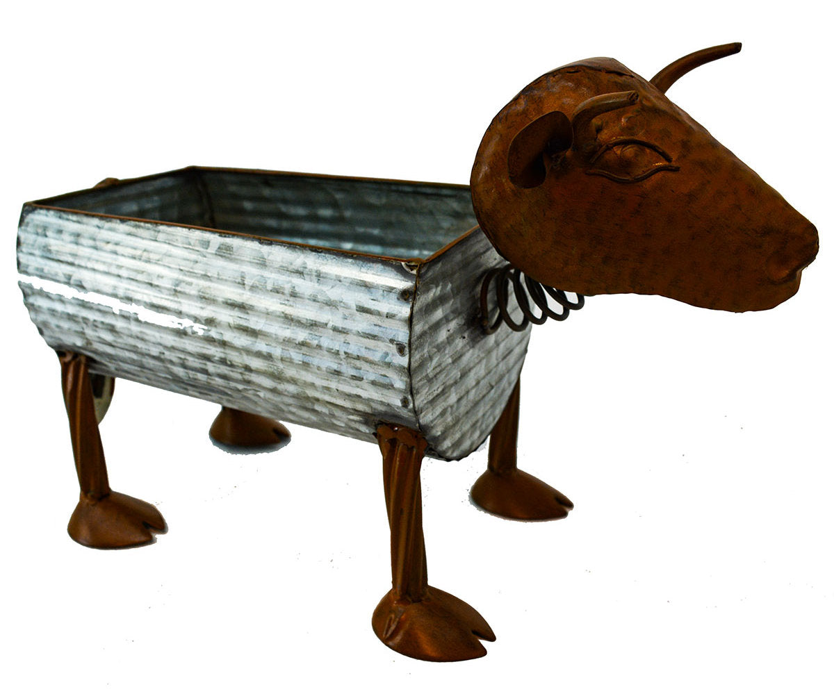 #318-82137 Metal Cow Planter