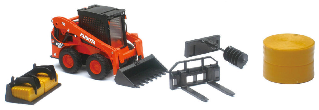 #33133 1/18 Kubota SSV65 Skid Loader with Accessories