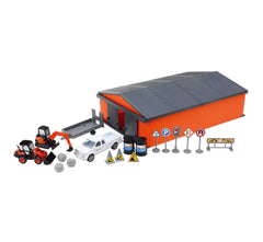 #33223 1/43 Kubota Construction Set with Machine Shed