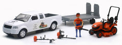 #33263A 1/18 Kubota Pickup with Trailer & Kubota Lawn Set