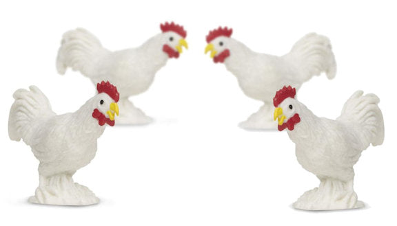 #347623 1/32 White Rooster Set