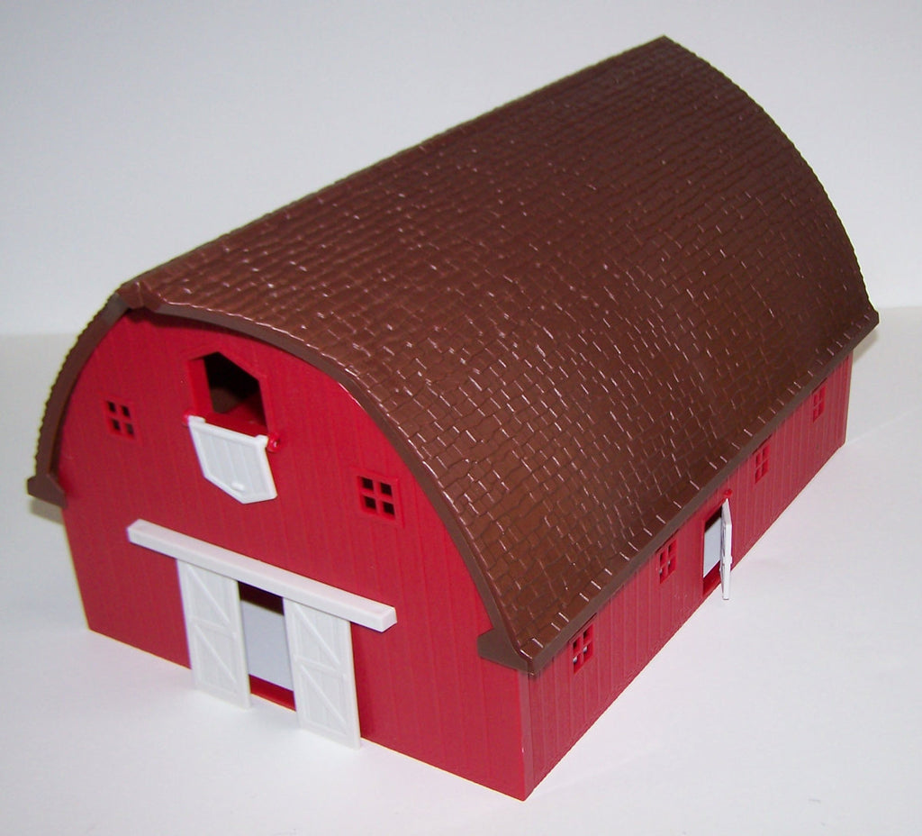#35169 1/64 Red Round Gable Barn