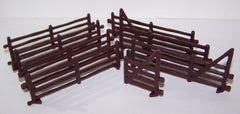 #35170 1/64 Brown Split Rail Fence Set, 8-pc.
