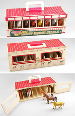 #3744MD Wooden Take-Along Show Horse Stable