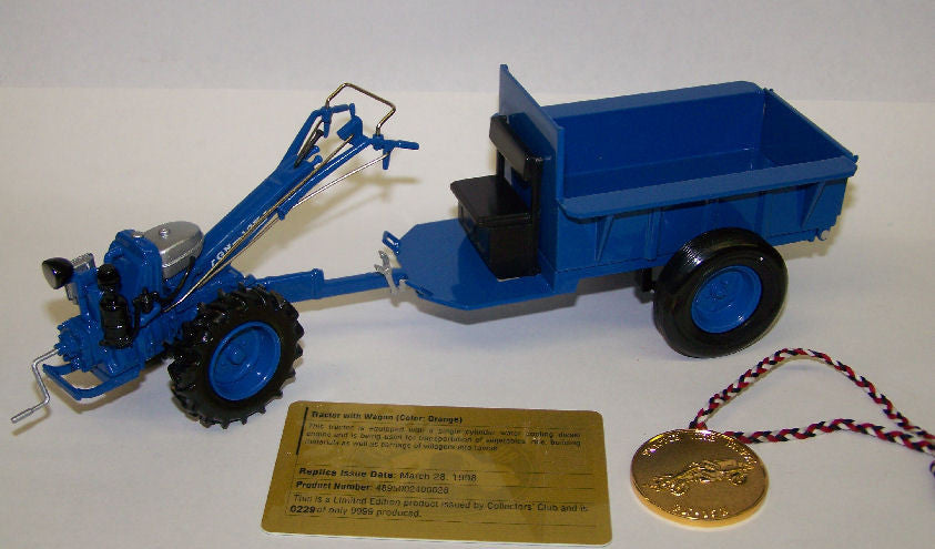 No. 400011 1/20 Blue Iron Bull Hand-Held GN-12K Tractor with Wagon