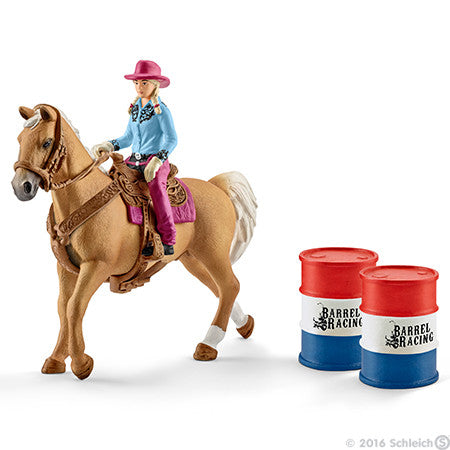 #41417 1/20 Barrel Racing Set with Cowgirl