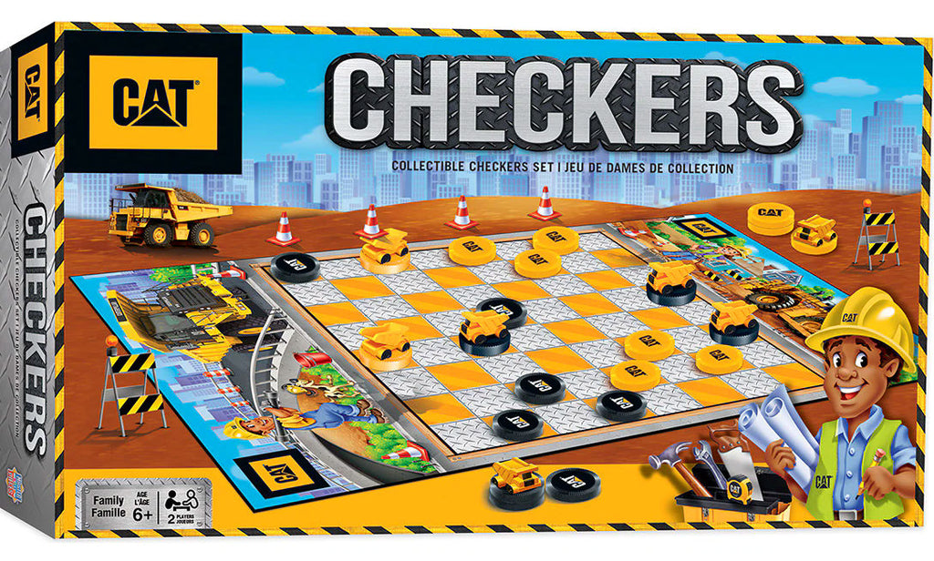 #41902 Caterpillar Checkers Board Game