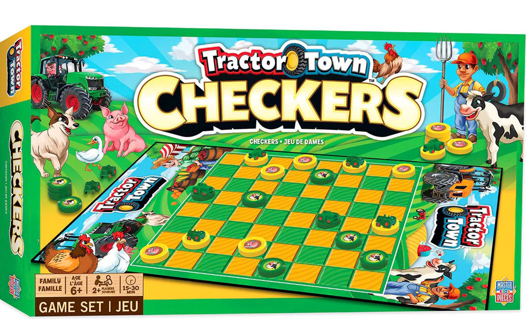 #41980 Tractor Town Checkers Board Game