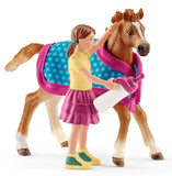 #42361 1/20 Foal with Blanket Playset